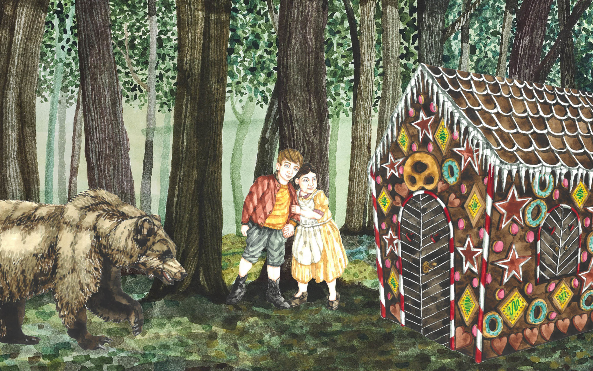 Illustration Hänsel und Gretel, Kulturen in Lund, Schweden